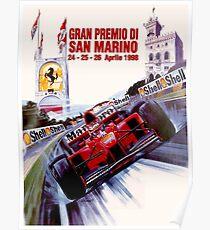 SAN MARINO: Jahrgang 1998 Gran Premio Auto Racing Print Poster