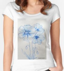 Poppies Women's Fitted Scoop T-Shirt
