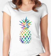 Pineapple Color Women's Fitted Scoop T-Shirt