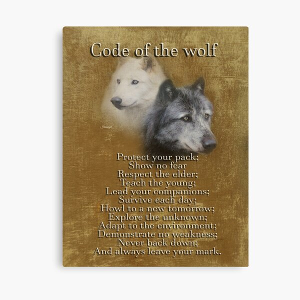 Code of the Wolf Canvas Print