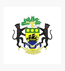 Coat of arms of Gabon Photographic Print