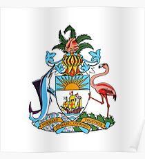Coat of arms of the Bahamas Poster