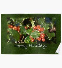 Holiday Holly - Happy Holidays Poster
