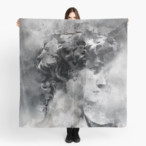 Watercolor David Michelangelo Scarf