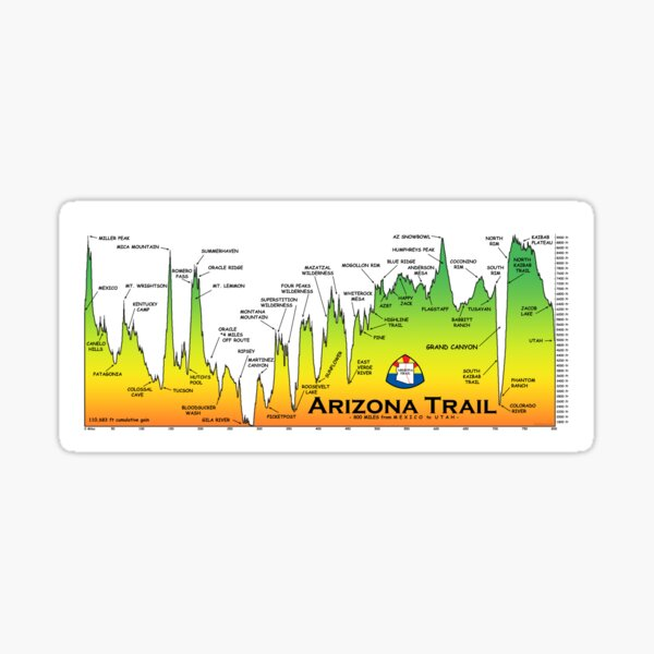 Arizona National Scenic Trail Sticker