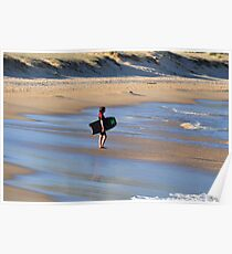 Boogie Board Dreaming - Nobbys Beach Newcastle NSW Poster