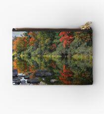 Autumn River Landscape Blue Ridge Parkway Studio Pouch