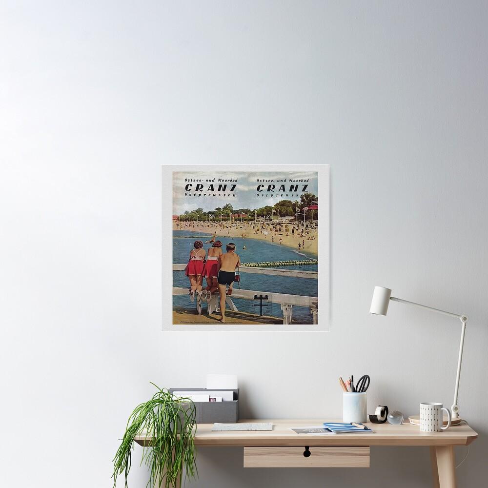 Ostsee und Moorbad Cranz, Ostpreussen Poster