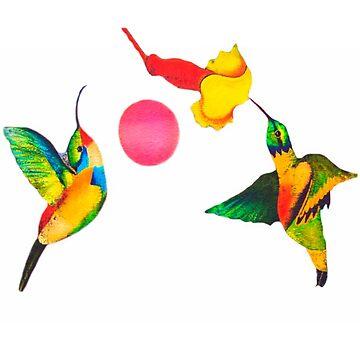 Joe's Hummingbird Art by alabca