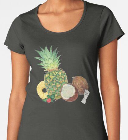 pina colada _ blue Premium Scoop T-Shirt