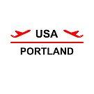 Portland USA Airport Plane Light-Color by TinyStarAmerica