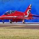 Red on Blue by Barrie Woodward