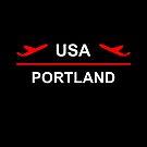 Portland USA Airport Plane Dark Color by TinyStarAmerica