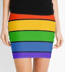 Rainbow Stripes Mini Skirt