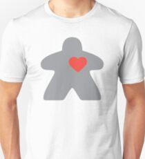 Meeple love - Grey Slim Fit T-Shirt