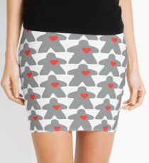 Meeple love - Grey Mini Skirt