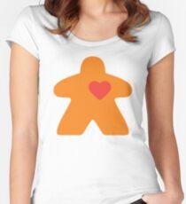 Meeple Love - orange Fitted Scoop T-Shirt