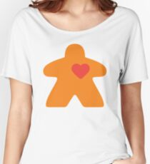 Meeple Love - orange Relaxed Fit T-Shirt
