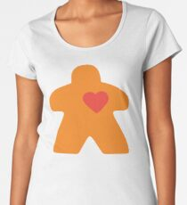 Meeple Love - orange Premium Scoop T-Shirt