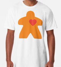 Meeple Love - orange Long T-Shirt