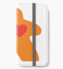 Meeple Love - orange iPhone Wallet/Case/Skin