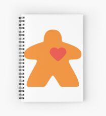 Meeple Love - orange Spiral Notebook