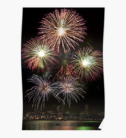 High Five - Sydney Harbour - New Years Eve - Midnight Fireworks  Poster