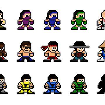 Mortal Kombat II 8-bits by marcusfpa