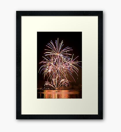 Sydney Harbour - New Years Eve - Midnight Fireworks  Framed Print