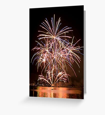 Sydney Harbour - New Years Eve - Midnight Fireworks  Greeting Card