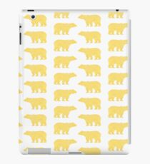 Gold Bears - foil glitter sparkle gold pattern print bear golf golfing nature trendy hipster sports iPad Case/Skin