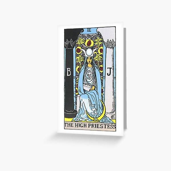 High Priestess Tarot Greeting Card