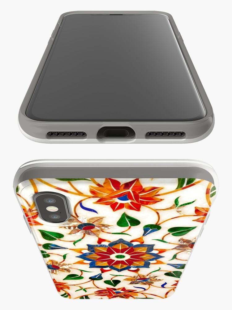 Vista alternativa de Funda y vinilo para iPhone Diseño Floral Taj Mahal