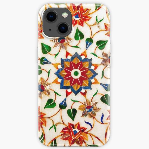 Taj Mahal Floral Design iPhone Soft Case