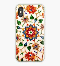 Taj Mahal Floral Design iPhone Case