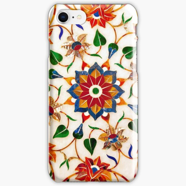 Taj Mahal Floral Design iPhone Snap Case