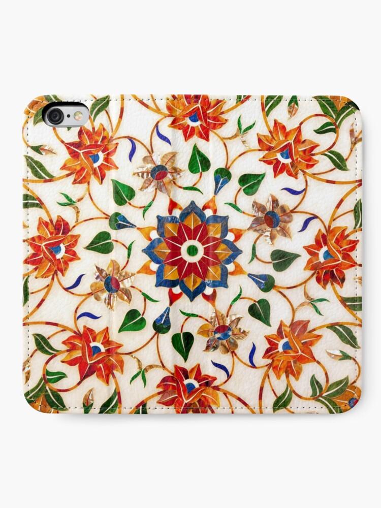 Vista alternativa de Fundas tarjetero para iPhone Diseño Floral Taj Mahal