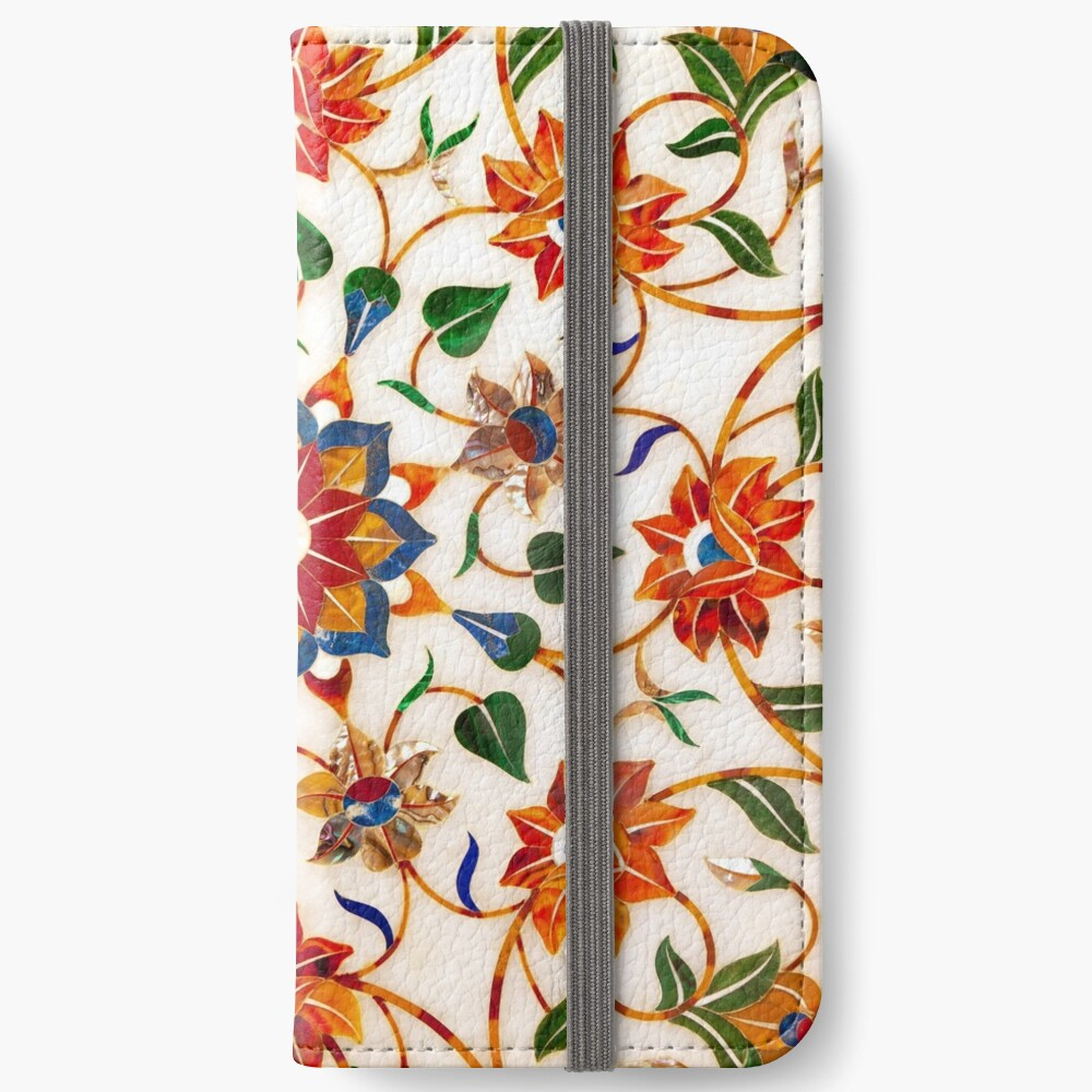 Diseño Floral Taj Mahal Fundas tarjetero para iPhone