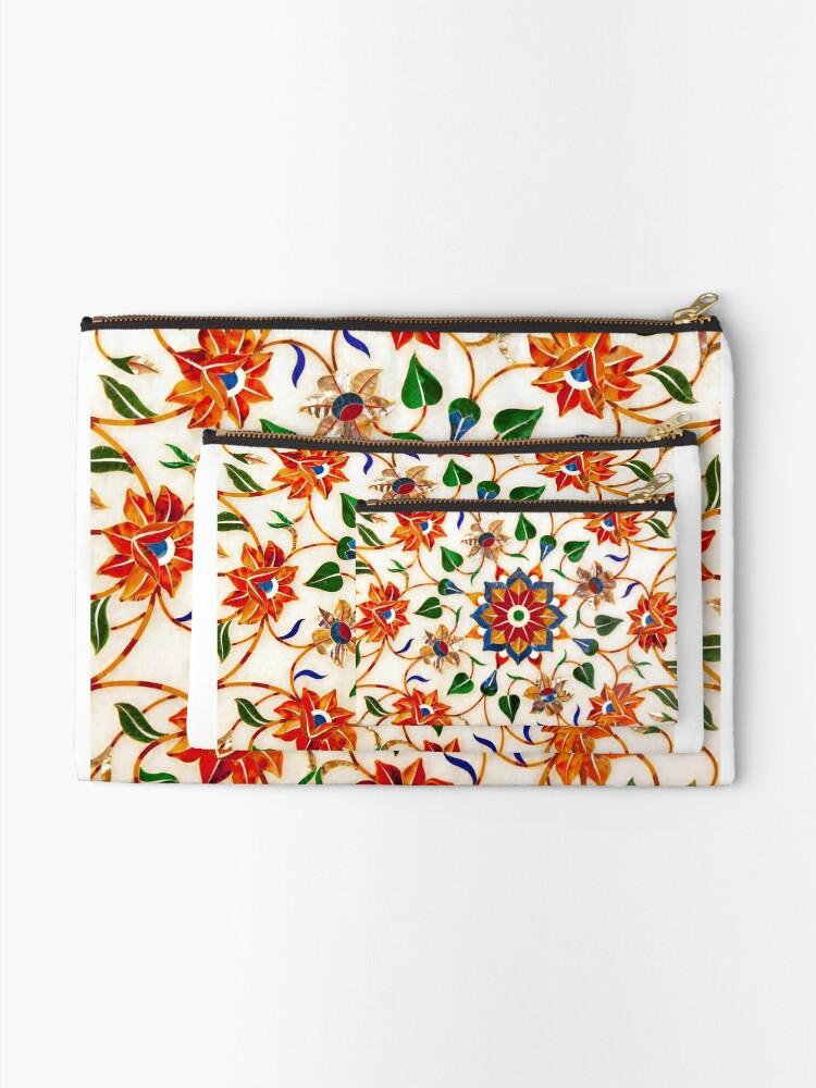 Vista alternativa de Bolsos de mano Diseño Floral Taj Mahal