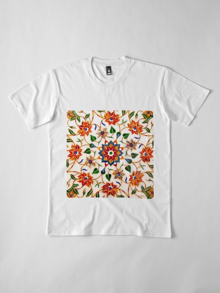 Vista alternativa de Camiseta premium Diseño Floral Taj Mahal