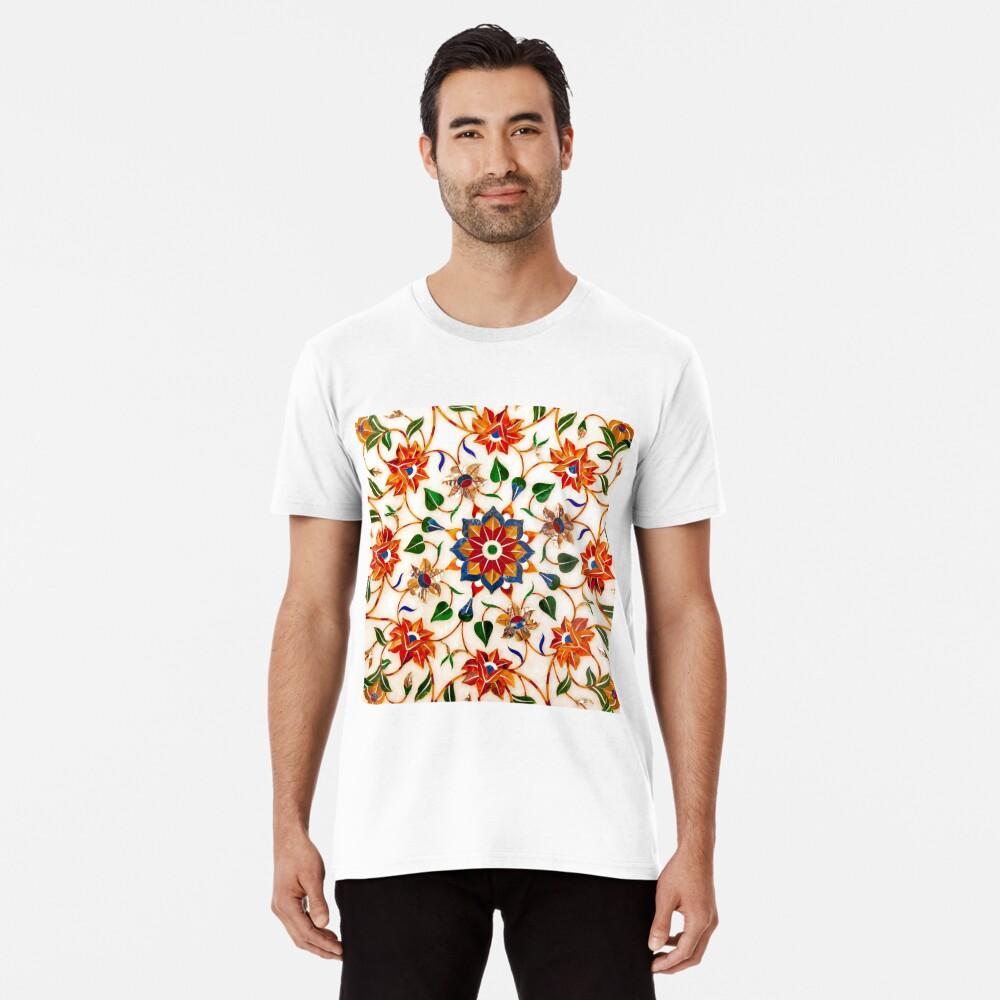 Diseño Floral Taj Mahal Camiseta premium