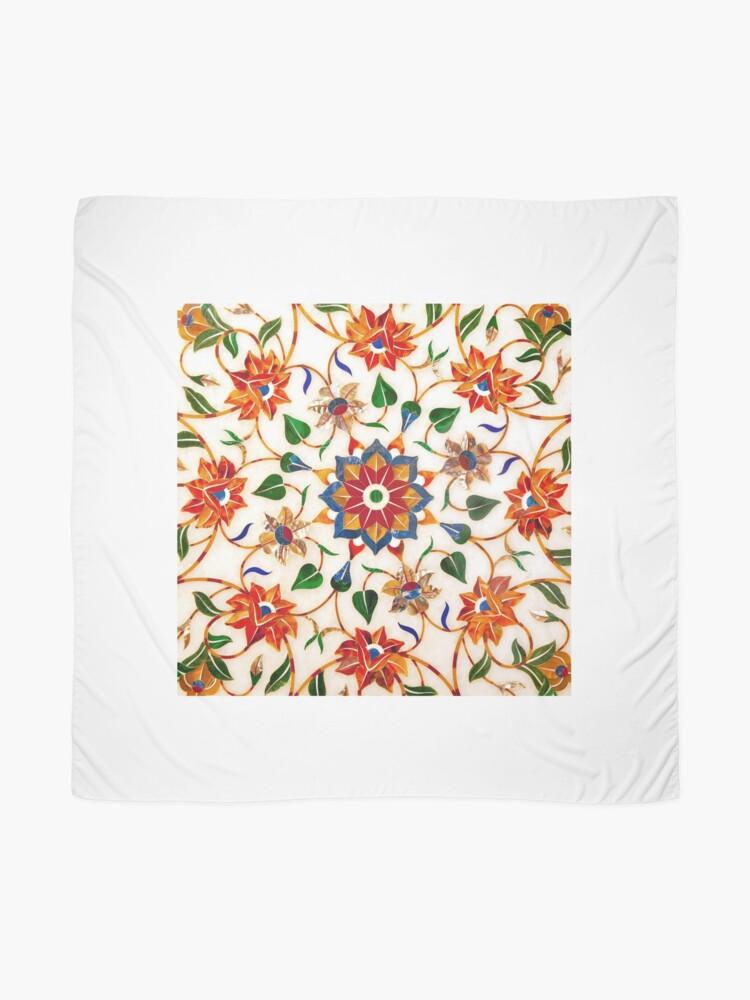 Vista alternativa de Pañuelo Diseño Floral Taj Mahal