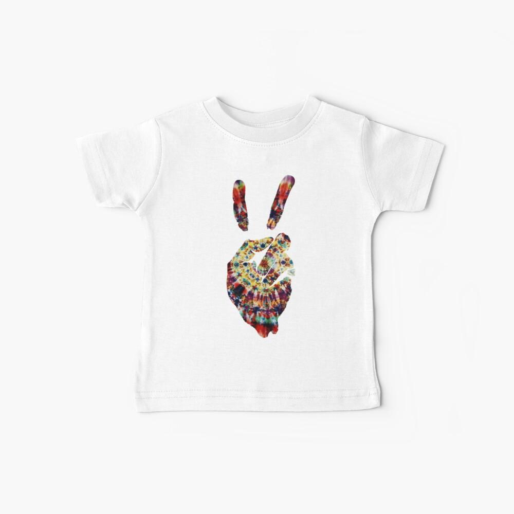 Hippie Friedenszeichen Baby T-Shirt