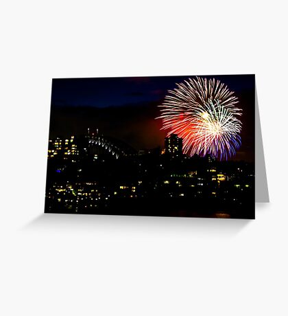 Sydney Harbour Fireworks - New Years Eve  Greeting Card