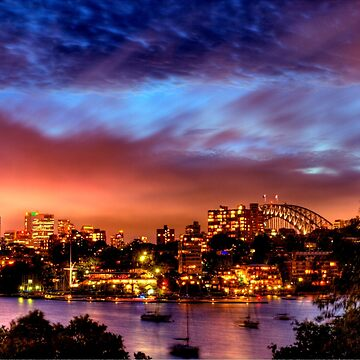 Sydney Harbour - Before New Year's Eve Fireworks by BryanFreeman