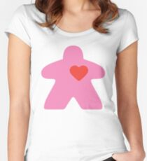 Meeple Love - pink Fitted Scoop T-Shirt