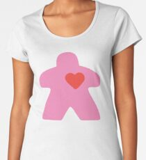 Meeple Love - pink Premium Scoop T-Shirt