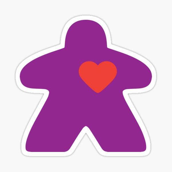 Meeple Love - purple Sticker