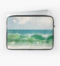 Ocean Sea Landscape Photography, Seascape Waves, Blue Green Wave Laptop Sleeve