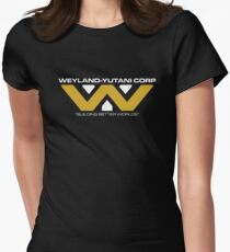 The Weyland-Yutani Corporation Logo Womens Fitted T-Shirt